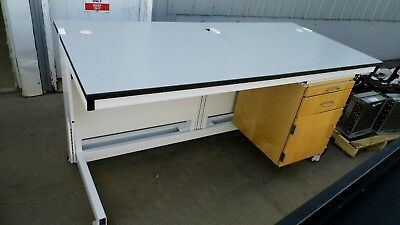 """33"""" X 72"""" X 36"""" Tall Laminate Top Laboratory Work Bench/table 1 Door 2Drawer"""