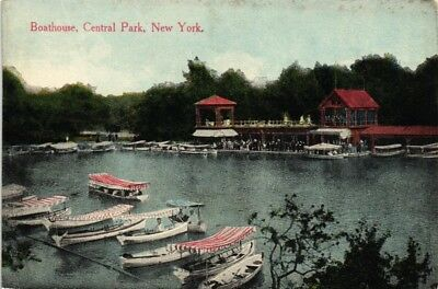 Dr Jim Stamps Us Postcard Boathouse In Central Park New York City