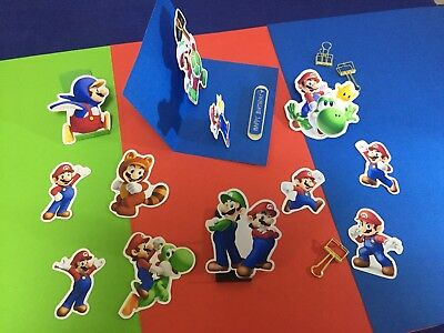 11x super mario bros stickers for birthday party bag filler Nintendo Wii decal