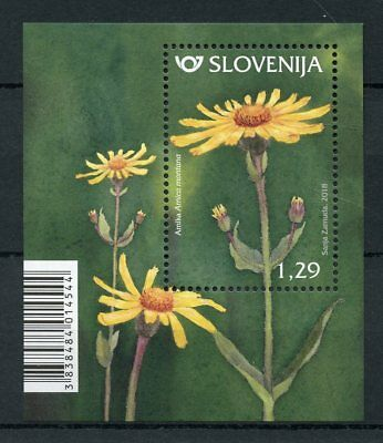 Slovenia 2018 MNH Mountain Arnica 1v M/S Plants Flowers Flora Stamps