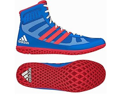 203ad33b9826f5 Adidas Men s Mat Wizard 3 Wrestling Shoes Size 9 9.5 10 11 Blue Red S77970  NIB