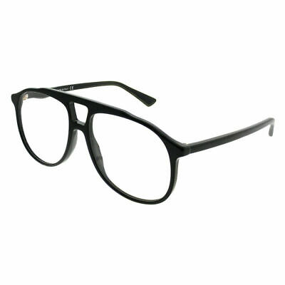 Gucci GG0264O 001 Black Plastic Aviator Eyeglasses 57mm