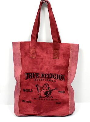 True Religion Brand Jeans Ladies Arch Logo Denim Tote Bag/Purse - YDENIMTOTE