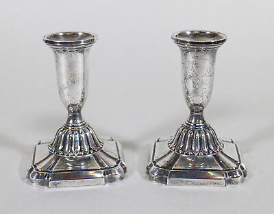 Towle Sterling Silver Candle Holders Candlesticks 044 Danish Mid Century Design