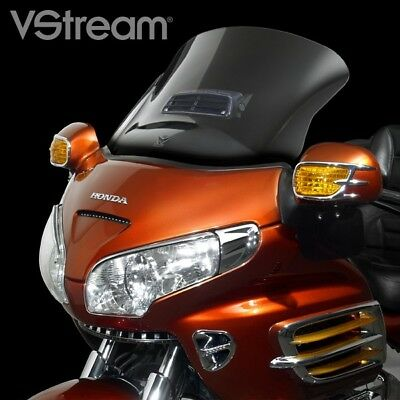 "National Cycle VStream Clear Tall Vented Windshield 22"" Honda GL1800 2001-2017"
