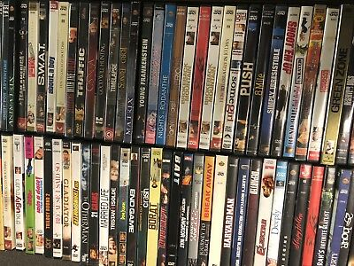 HUGE Collection - 100 DVDs Wholesale ASSORTED Bulk Movies 100 DVDs Best Variety!