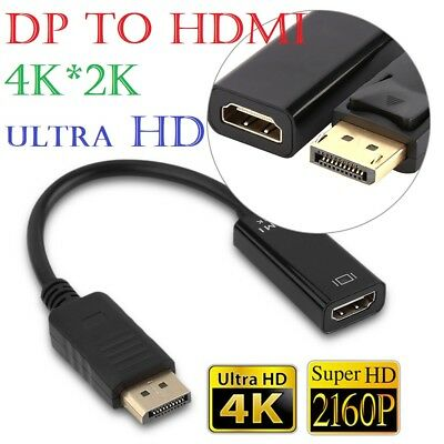 4K Display Port DP To HDMI Female Cable Adapter Converter Display Port for HDTV
