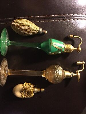 vintage spray perfume bottles lot