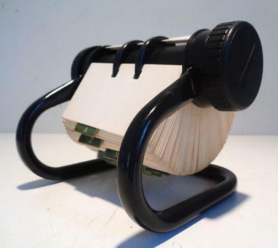 Vintage Modern Black ROLODEX 5024X Telephone Address Desk top Rotary Card File