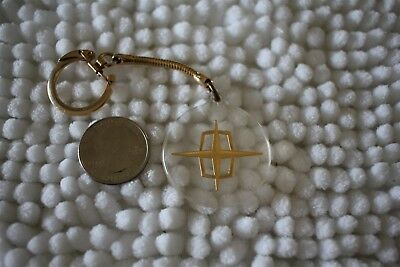 1960's Lincoln Automobiles Cars Vintage Clear Keychain Key Ring #26913