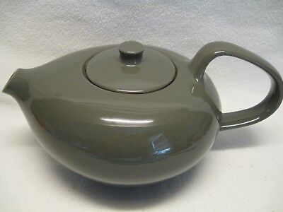 Oneida Russell Wright Charcoal Gray 6 Cup Teapot Excellent