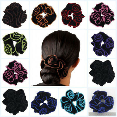 Velvet Flower Hair Scrunchies Ponytail Holder Hair Ropes Elastic Hair Bands New