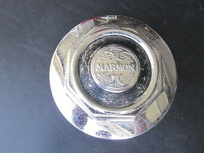 "Vintage MARMON HUBCAP Grease Center Dust Cap 6"" Diameter - 2 available OLD RARE"