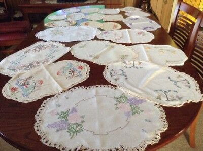 embroidered Doilies X22