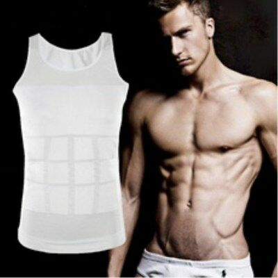 1Pc Men Bellyband Breathable Body Shapers Underwear Sculpting Vest Slim Shirt