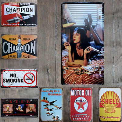 Vintage Retro Bar Metal Tin Sign Poster Style Wall Art Pub Club Decor DIY