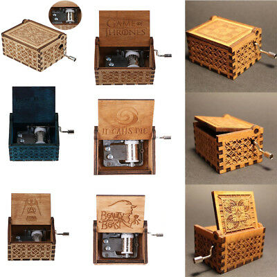 AU Hot GAME OF THRONES / Harry Potter Engraved Wooden Music Box Surprise Gift