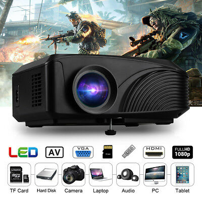 LED LCD Projector 1080P HD Red-Blue 3D Home Cinema Multimeida HDMI/SD/USB/VGA AU