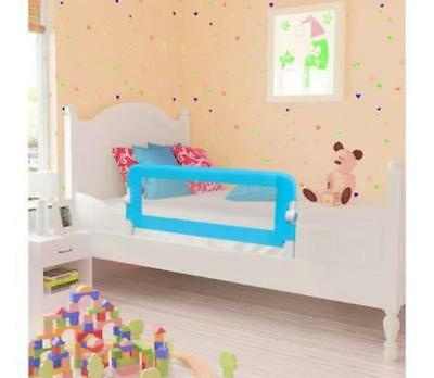 Blue Baby Toddler Kids Bedrail Child Protection Guard Folding Safety Bed Rail
