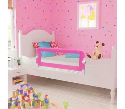 Pink Baby Toddler Kids Bedrail Children Protection Guard Folding Safety Bed Rail