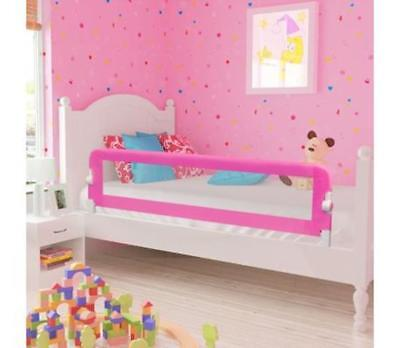 Pink Baby Toddler Kids Bedrail Children Protection Guard Safety Bed Rail 150Cm