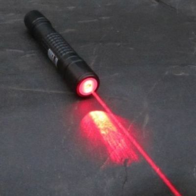 638T-300-F-W Focusable Waterproof 635nm Orange Red Portable Laser Pointer Torch