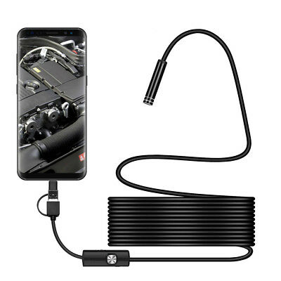 HD Waterproof 3in1 Android USB Type-C Endoscope Camera Inspection 7mm Camera