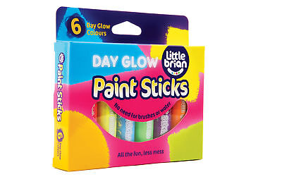 Little Brian Paint Sticks Day Glow Colours 6 Pack