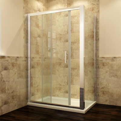 Sliding Shower Enclosure With Tray & Free Waste & Side Panel Glass Door Cubicle