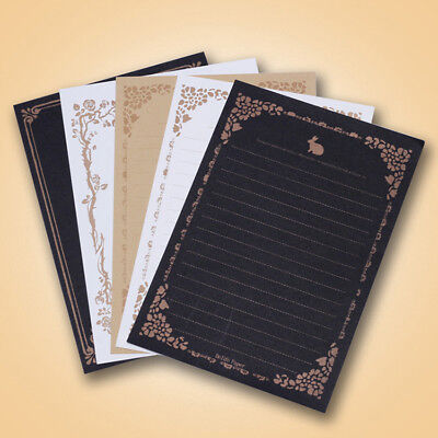 8 Sheets European Style Writing Paper Letter for Envelopes Office Stationery