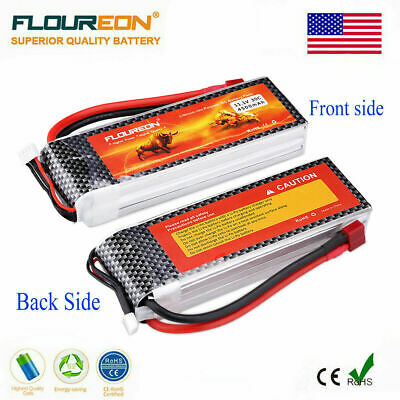 Floureon 3S 11.1V 4500mAh 30C T Plug LiPo Battery for RC Car Truck Airplane Boat