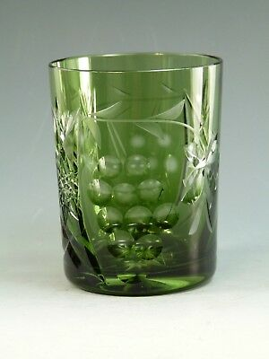 "NACHTMANN Crystal - TRAUBE Design - Tumbler Glass / Glasses - 4"" - Green"