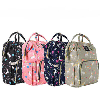 LEQUEEN Mummy Diaper Bag Backpack Maternity Nappy Baby Bags+ 2 Stroller Hooks
