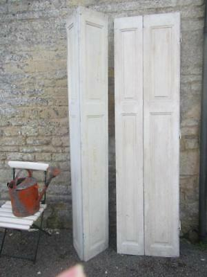 VINTAGE WOODEN FRENCH  WINDOW SHUTTERS Bi Folding 213 CM TALL