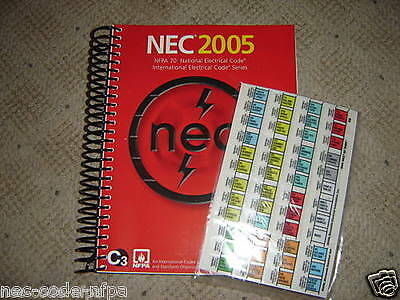 2005 NEC National Electrical Code w/ EZ Tabbed ~ New Spiral