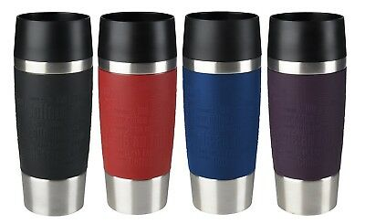 Tefal Travel Mug 360ml Stainless Steel Leak Proof Flask Mug Silicone Grip