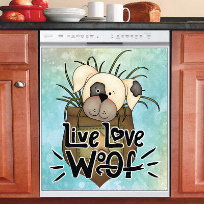 Beautiful Cute Decor Kitchen Dishwasher Magnet - Adorable Baby Pocket Puppy