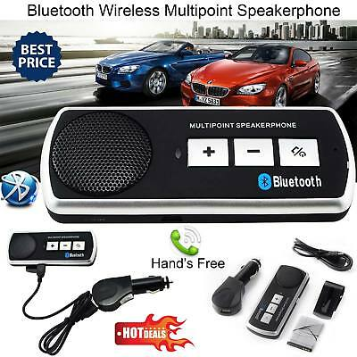 NEW Wireless Bluetooth Hands Free Speaker Car Kit Visor Clip Smart Phone Mobile