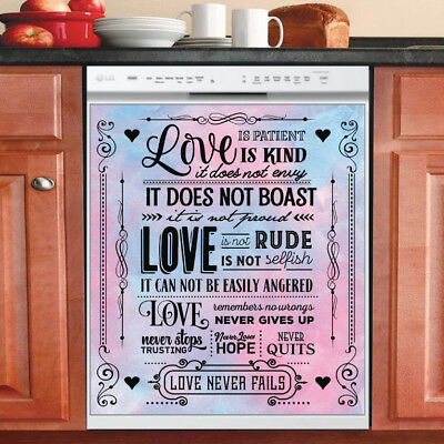 Beautiful Cute Decor Kitchen Dishwasher Magnet - Love Quotes