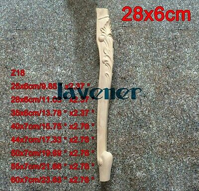 28x6cm Wood Carved Onlay Applique Carpenter Decal Leg Z18 1/2PCS