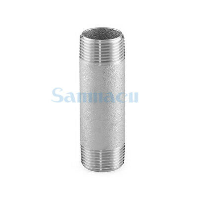 """1/4"""" to 2"""" NPT Male 304 Stainless Steel 100mm Barrel Nipple Forged Pipe Fitting"""