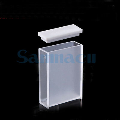 30mm Path Length JGS1 Quartz Cuvette Cell With Lid For Uv Spectrophotometers