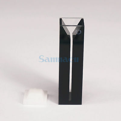 350ul 1mm Inside Width Micro JGS1 Quartz Cuvette Cell With Black Walls And Lid