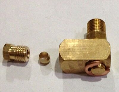 """1/8"""" BSP Male x 6mm OD Tube Brass Connector Machine Tool Oil Filter Canister"""