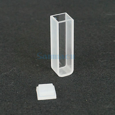 3.5ml 10mm Path Length JGS1 Quartz Cuvette Cell With Lid For Spectrophotometers