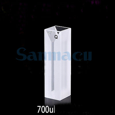 700ul 2mm Inside Width Micro JGS1 Quartz Cuvette Cell With Frosted Walls And Lid