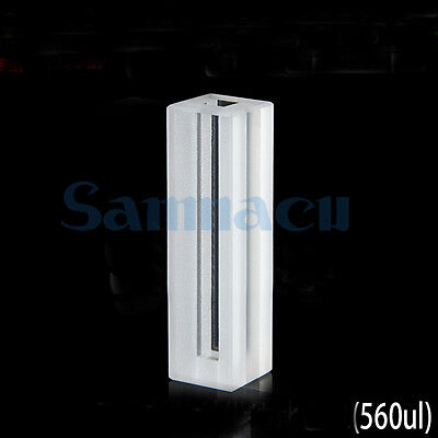 560ul 4mm Path Length Micro Fluorescence Quartz Cell Cuvette With Lid