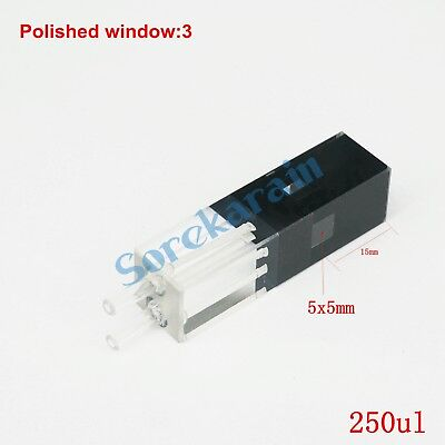 250ul 10mm Path Length JGS1 Quartz Fluorescence Flow Cuvette With Glass Tube