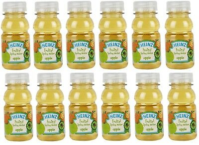 Heinz 6+ Months Bottled Apple Fruity Spring Water Baby Drink 12x or 24x 150ml