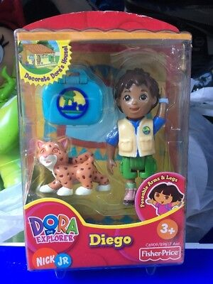 FISHER-PRICE DORA THE EXPLORER DOLLHOUSE Figure DIEGO Explorer Laptop Cat